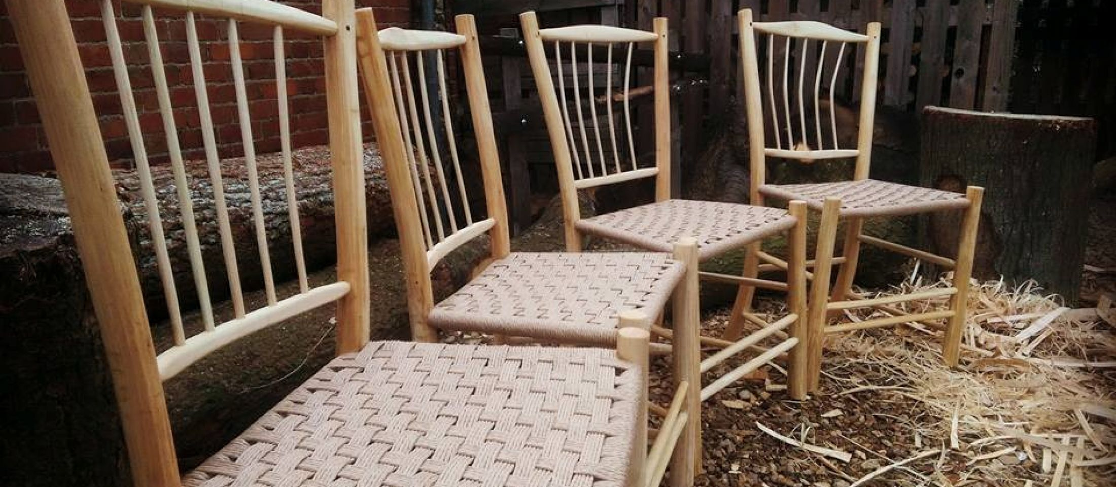 Ash dining chairs.