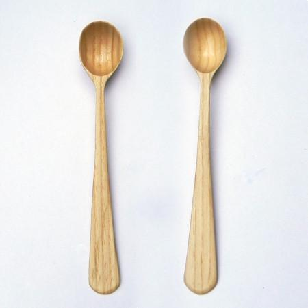A beautiful pair of ash spoons