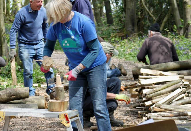 Greenwood working in action. Photo: High Weald Partnership